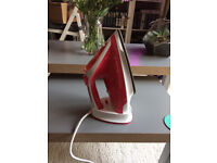 Steam Iron - Pink, Silver Crest - barely used