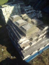 30 metres of bollard wall