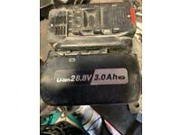 Panasonic hammer drill charger and batteries