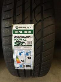 ROVELO RPX-988 245/45ZR18 100W XL £70 fully fitted