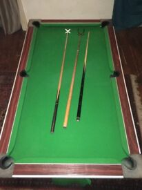 Pool Table, pub size slate bed - Used condition