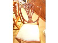 Stunning reproduction dining table and chairs from Shapes of Edinburgh