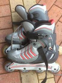 Roller blades and protective equipment