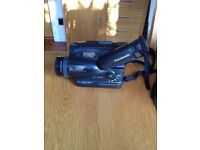 VHS Panasonic Camcorder plus carrying bag, charger, leads and manual