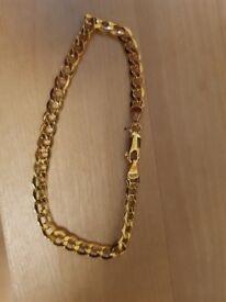 9ct Yellow Gold Curb Bracelet
