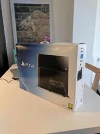 Play Station 4 Console | 500gb | Jet Black | Excellent Condition | Original Box + Manuals