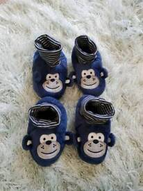 Baby booties 9-12 months used