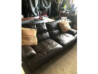 G Plan Italian Leather 3 seater sofa