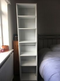 White MDF bookcase/ storage unit