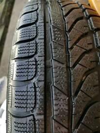 Set of steelies with new winter tyres