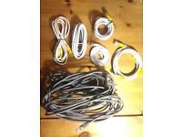 Job Lot : gigabit LAN Ethernet cables x6 one of them super Long