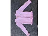 Pink girls ribbed Ralph Lauren cardigan