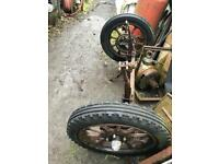 Two axel artillery wheels
