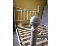 £60 ONO white metal double bed