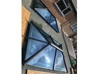 Sky Pods Roof Lantern in Aluminium with blue active self cleaning glass