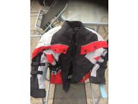Children's motorcycle jacket with padding, elbows shoulders and back
