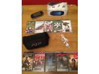 Psp bundle games,movies,carry case,headset