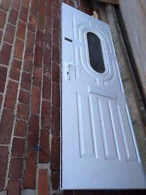 *White PVC external door