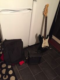 Lead Electric Guitar with case & Amp