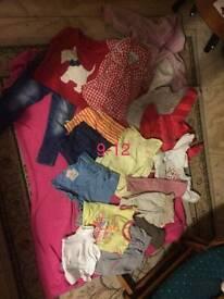 9 - 12 months girls clothes