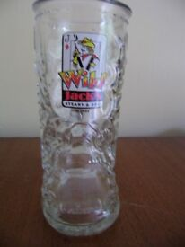 Mug, Libbey of Canada Clear Glass Beer Mug Cowboy Boot with Spurs