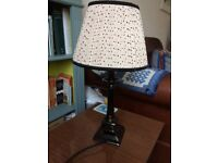 Laura Ashley Table Lamp with silk light shade