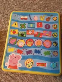 Peppa pig musical tablet