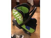 BMW MINI VIVID Green child's seat & BMW isofix base new cost £480