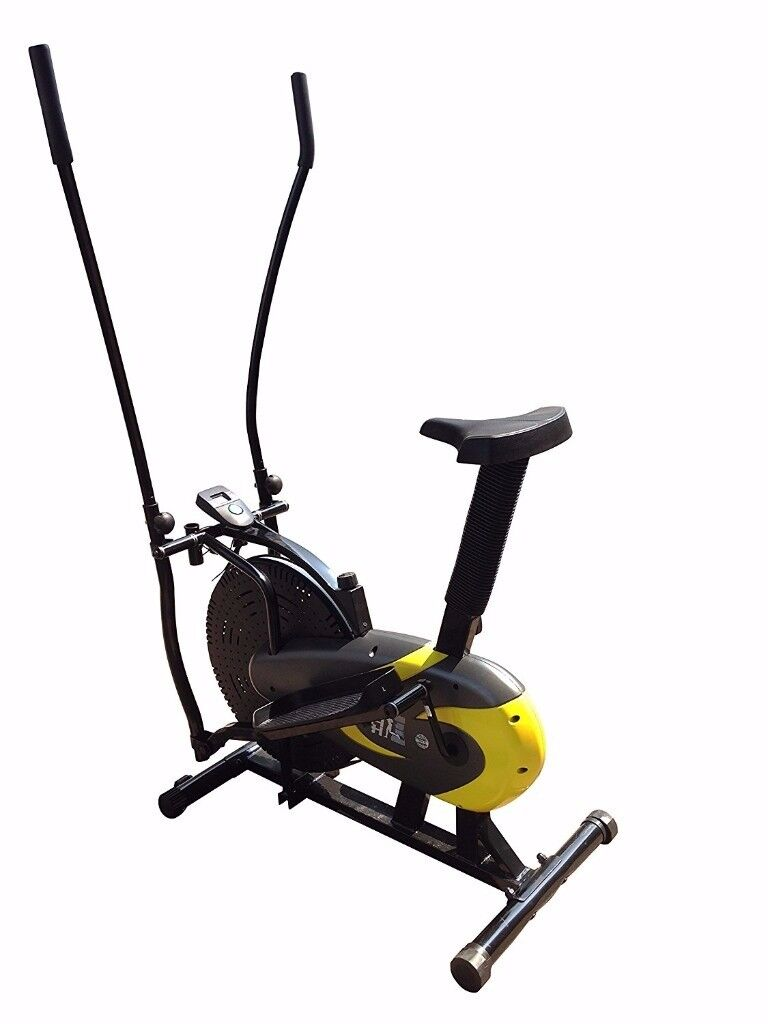 Olympic Pulse 2-in-1 Cross Trainer and Exercise Bike 9200 Yellow £80 ONO