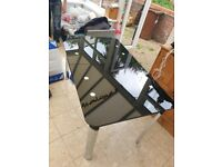 Extendable Black Glass Table without chairs