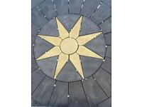 6ft concrete star circle.