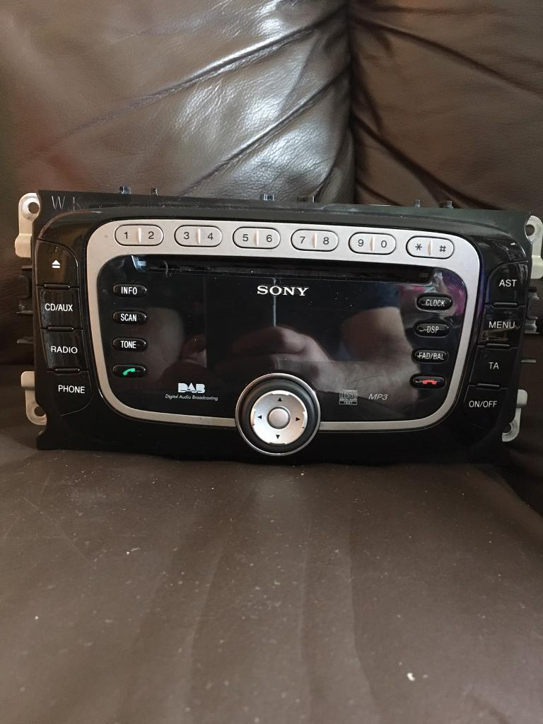 Ford Dab Sony Car Radio Cd Mp3 Stereo With Code And User Manual Manuals Faulty