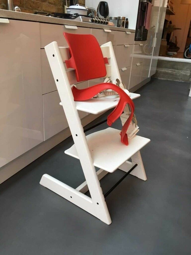 Stokke tripp trapp chair with strapps in brixton for Offerte stokke tripp trapp