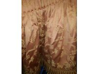 chinese style pattern curtains fully lined