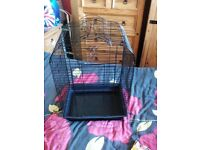Black small parrot / bird cage open top