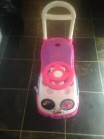 Kids mini mouse ride along
