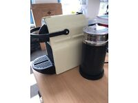 Nespresso magimix coffee machine and milk frother.