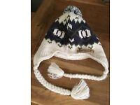 Pom Pom knit hat/fleece lined by Animal