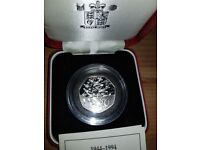 Used, D-Day 1994 50p Silver Proof Coin for sale  Castleford, West Yorkshire