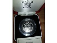 D-Day 1994 50p Silver Proof Coin for sale  Castleford, West Yorkshire