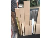 14 large and medium size pieces MDF 18mm thick B&Q