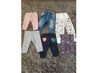 3-6 months girls leggings & trousers bundle
