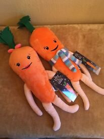 Kevin and Katie carrot plush toys