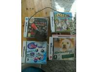 Nintendo DS pink with games