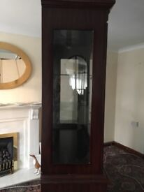 Mahogany Light Up Display Cabinet - Excellent Condition