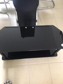 BEAUTIFUL BLACK 2 Tier GlassTV stand for quick sale £20.00