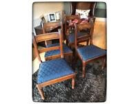 Antique William IV/Early Victorian Mahogany Bar Back Dining Chairs