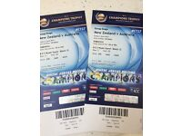 Two New Zealand v Australia Champions Trophy tickets