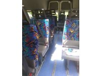 minibus rear seats with full safety belts
