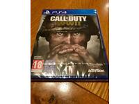 CALL OF DUTY WWII. BRAND NEW AND FACTORY SEALED ON PS4 .